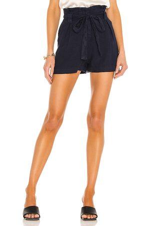 L'Agence Mujer Shorts - Hillary paperbag shorts en color azul talla 23 en - Navy. Talla 23 (también en 24, 25, 26, 27, 28, 29, 30).