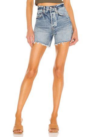 AGOLDE Mujer Shorts - Riley short en color azul talla 23 en - Blue. Talla 23 (también en 24, 25, 26, 27, 28, 29, 30, 31, 32, 33, 34).