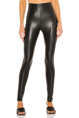 Commando Mujer De piel - Faux leather pocket legging en color talla L en - Black. Talla L (también en XS, S, M).