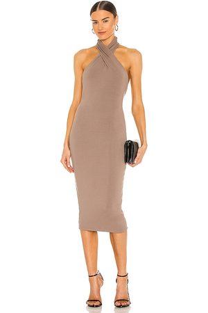 NBD Mujer Midi - Vestido midi anju en color taupe talla M en - Taupe. Talla M (también en XXS, XS, S, XL).