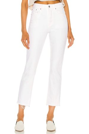 GRLFRND Karolina high rise straight crop en color blanco talla 23 en - White. Talla 23 (también en 26, 24, 25, 27, 28, 29).