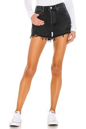 AGOLDE Mujer Shorts - Parker short en color negro talla 23 en - Black. Talla 23 (también en 24, 25, 26, 27, 28, 29, 30, 31, 32, 33, 34).