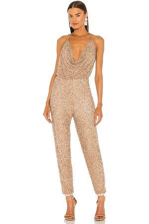 Retrofete Mujer Largos - X revolve skylar jumpsuit en color oro metálico talla L en - Metallic Gold. Talla L (también en XS, S, M).