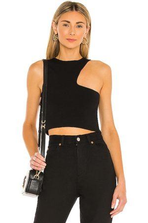 superdown Mujer Tops - Top con cortes nora en color talla L en - Black. Talla L (también en S, M, XS).