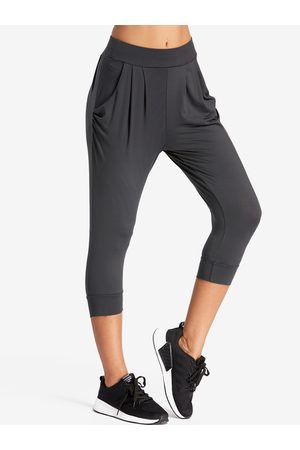 YOINS Mujer Anchos y de harem - Dark Pleated Design Middle-waisted Fashion Trousers