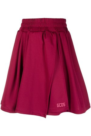 GCDS Minifalda con logo en relieve