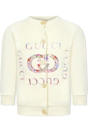 Gucci Kids Cárdigan con logo floral