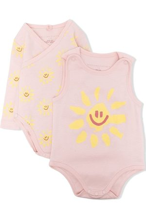 Stella McCartney Pack de dos bodies con motivo Happy Sun