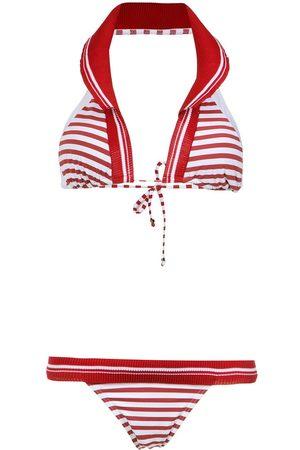 AMIR SLAMA Bikini estampado con cuello halter