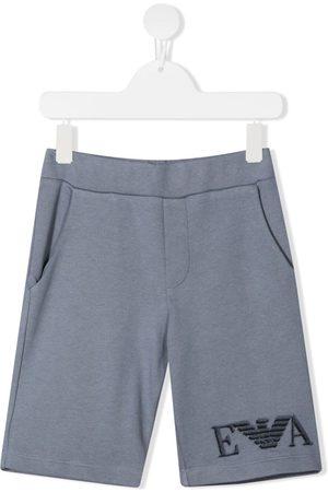 Emporio Armani Niño Bermudas - Shorts casuales con logo estampado