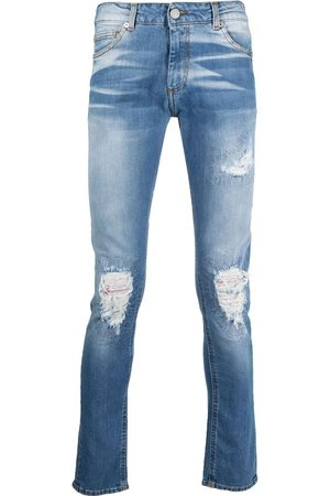 Family First Distressed light wash jeans