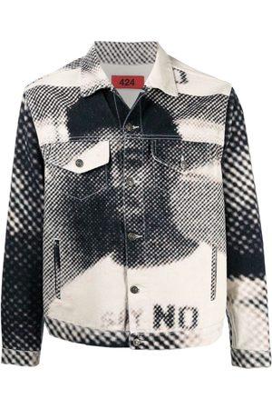 424 FAIRFAX Hombre De mezclilla - Graphic-print denim jacket