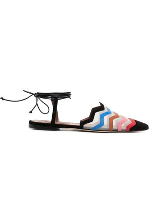 Missoni Mujer Flats - Colour-block embroidered ballerinas