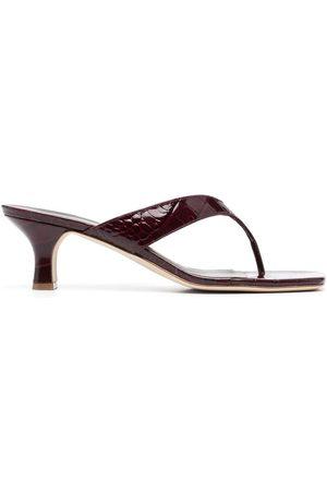 PARIS TEXAS Mujer Zuecos - Croc-effect mules