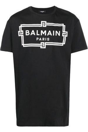 Balmain Hombre Playeras - Playera oversize con logo estampado