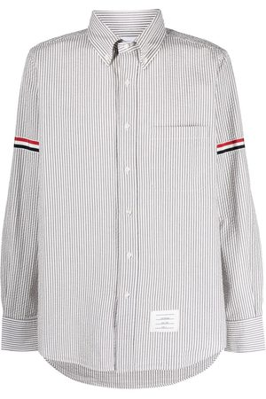 Thom Browne Vertical-stripe long-sleeve shirt