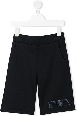 Emporio Armani Niño Bermudas - Logo-embroidered shorts