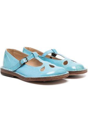 PèPè Glossy buckled ballerina shoes