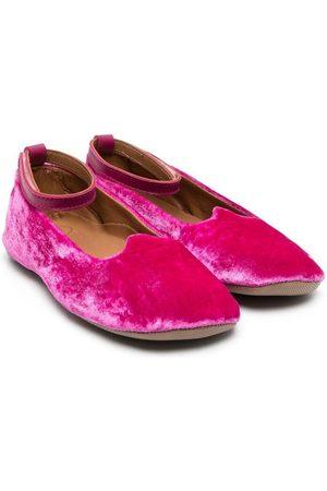 Pèpè Velvet ballerina shoes