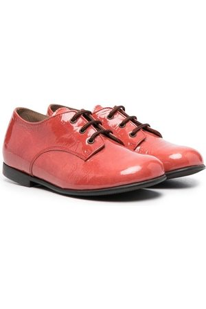 PèPè Niña Flats - Glossy lace-up ballerina shoes