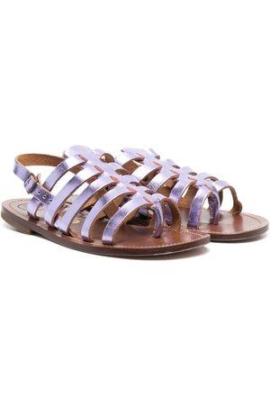 PèPè Niña Sandalias - Metallic strappy sandals