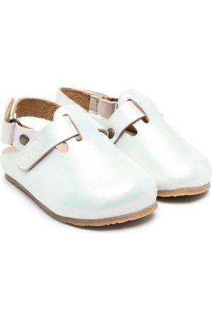 PèPè Iridescent buckled shoes