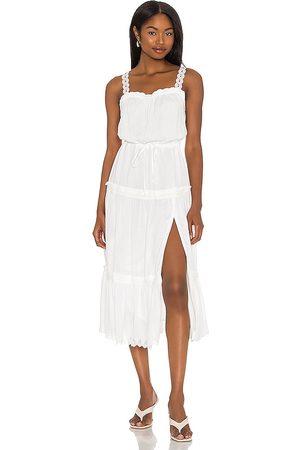 Paige Vestido midi amity en color talla L en - White. Talla L (también en XS, S, M).