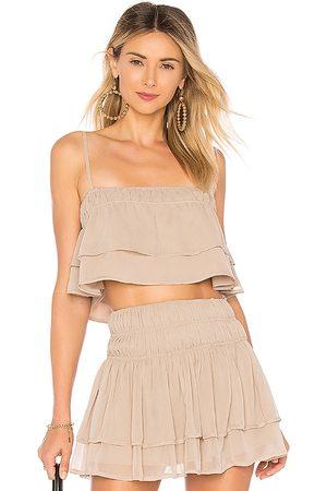 Tularosa Mujer Tops - Top corto cami stella en color nude talla L en - Nude. Talla L (también en XXS, M, XL).