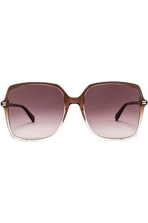 Gucci Gafas de sol square en color marrón talla all en - Brown. Talla all.