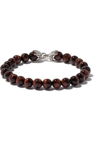 David Yurman Hombre Pulseras - Pulsera Spiritual Beads con ojo de tigre rojo