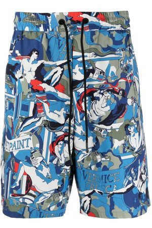 Iceberg Hombre Bermudas - Graphic-print cotton shorts