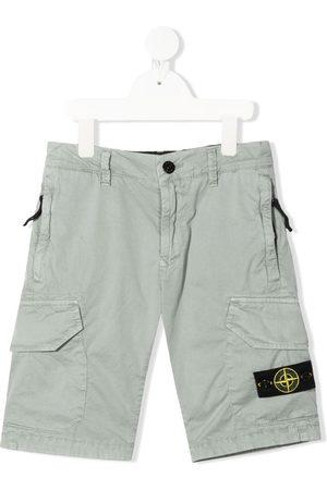 Stone Island Junior Shorts cargo con logo