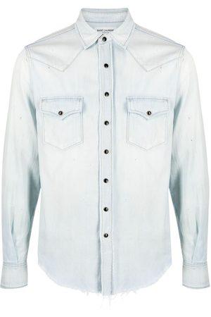 Saint Laurent Camisa de mezclilla estilo western