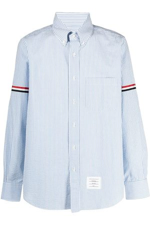 Thom Browne Hombre Manga larga - Vertical-stripe long-sleeve shirt