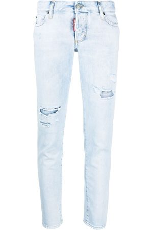 Dsquared2 Mujer Skinny - Low-rise distressed skinny jeans
