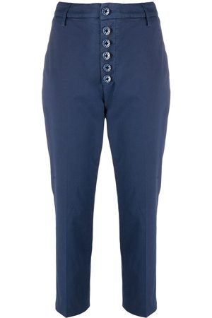 Dondup Mid-rise cropped chino trousers