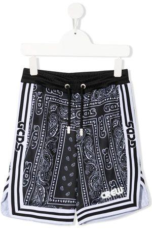 GCDS Shorts con estampado de bandana