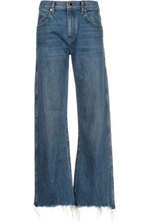 Khaite Jeans capri Kerrie con efecto envejecido