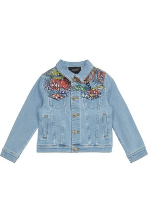 VERSACE Niño De mezclilla - Medusa Amplified denim jacket