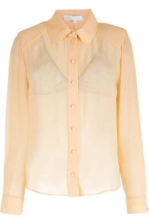 NK Camisa de seda manga larga