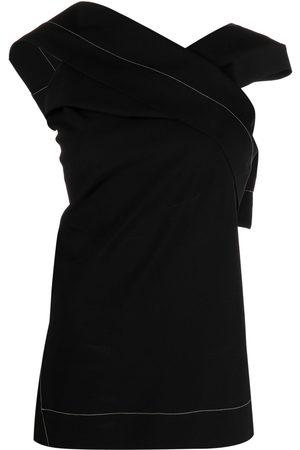 Jil Sander Asymmetric sleeveless top