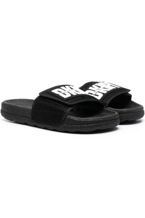 DKNY Logo print touch-strap sliders