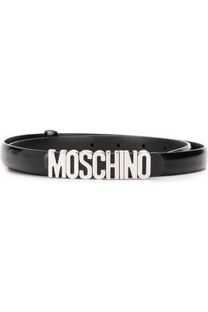Moschino Cinturón fino con hebilla del logo