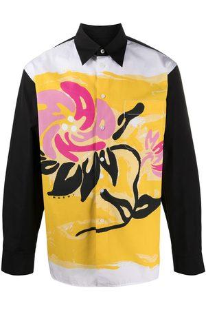 Marni Camisa a paneles con estampado floral
