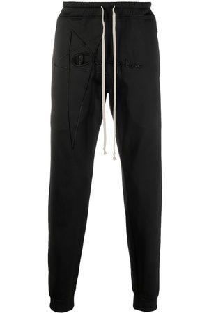 Rick Owens Pantalones con logo bordado