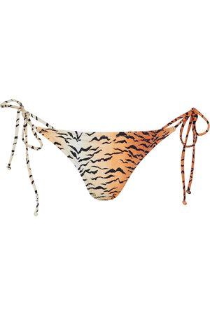 Reina Olga Miami tiger-print bikini bottoms
