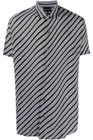 Emporio Armani Hombre Camisas - Camisa con estampado de rayas diagonales