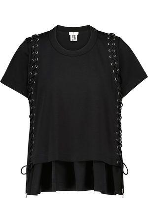 NOIR KEI NINOMIYA Mujer Playeras - Embellished cotton jersey T-shirt