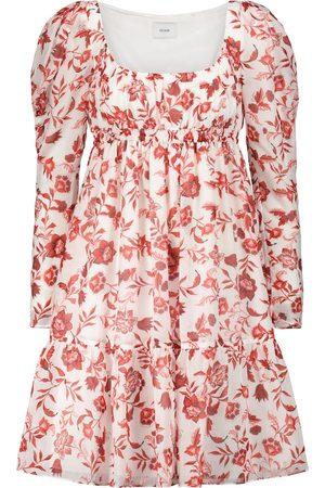 Erdem Sibyl floral cotton and silk minidress