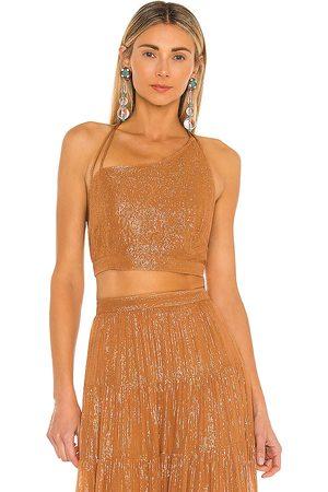 sundress Mujer Tops - Top corto louisa en color bronce talla L en - Tan. Talla L (también en S, XS, M).